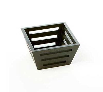 American Metalcraft TWBB53 Square Bread Basket, 5x3-in, Tapered, Birch