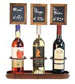American Metalcraft WBWR3 Wine Bottle Display w/ Chalk Board, 16x19-in, Copper