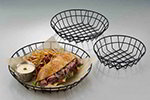 American Metalcraft WIB100 10-in Wire Basket, Black