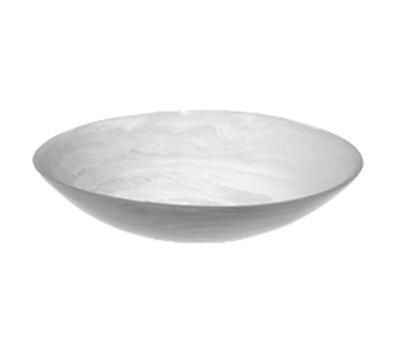 "American Metalcraft WSBL15 15-11/16"" Round Translucence Bowl - White Swirl Resin"