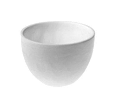"American Metalcraft WSDBS4 4-5/8"" Round Translucence Bowl - White Swirl Resin"