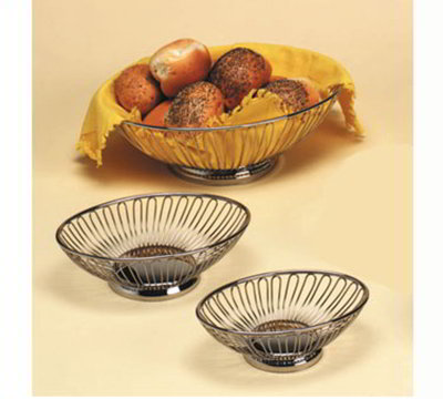 American Metalcraft OBS913 Oval Basket, 13.37x9.25-in, Stainless