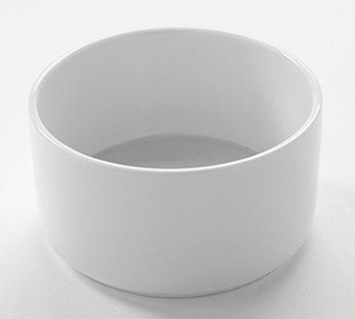 American Metalcraft PJ10 10-oz Round Jar - White Porcelain