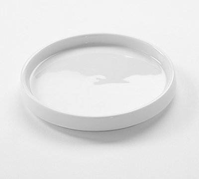 "American Metalcraft PL2 4-3/8"" Round Lid/Cover (PJ6/10) White Porcelain"