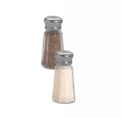 American Metalcraft PNS13 Salt & Pepper Shaker w/ 1-oz Capacity & Mushroom-Style Top, Glass/Stainless