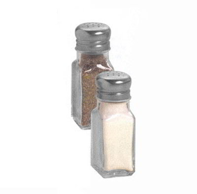 American Metalcraft PNS24 Salt & Pepper Shaker w/ 2-oz Capacity & Mushroom-Style Top, Glass/Stainless