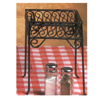 American Metalcraft PSS77 Square Pizza Stand w/ Scroll Design, Wrought Iron/Black