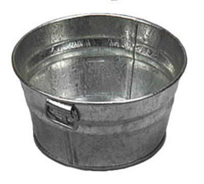 American Metalcraft MTUB63 Tub w/ Side Handle, 6x3-in, Tin