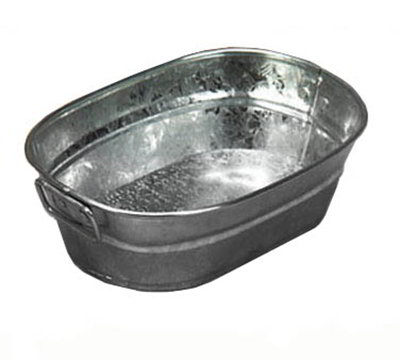 American Metalcraft MTUB69 Tub w/ Side Handle, 9x6-in, Tin