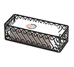 American Metalcraft SFBB5312 Basket w/ Scroll Design, 12x5-in, Wrought Iron/Black