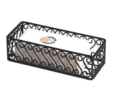 American Metalcraft SFBB5312 Basket w/ Scroll Design, 12x5-in, Wrought Iron/Black