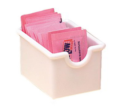 American Metalcraft SP322 Sugar Packet Holder, White/Plastic