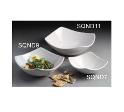 American Metalcraft SQND9 9-in Bowl w/ 44-oz Capacity, Ceramic/White