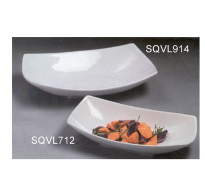 American Metalcraft SQVL914 14-in Bowl w/ 48-oz Capacity, Ceramic/White