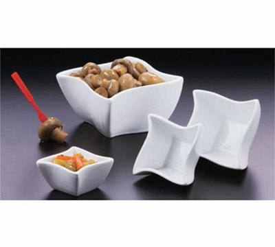 American Metalcraft SQVY4 4.5-in Condiment Bowl w/ 14.4-oz Capacity, Porcelain/White