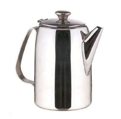 American Metalcraft SSCP68 Coffee Pot w/ 68-oz Capacity & Hinged Lid, Mirror/Stainless
