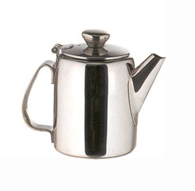 American Metalcraft SSTP65 Teapot w/ 12-oz Capacity & Hinged Lid, Mirror/Stainless