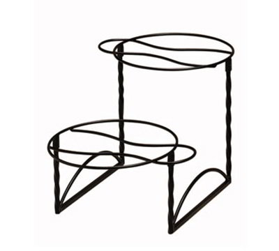 American Metalcraft TLTS1224 2-Tier Display Stand w/ Handle On Opposite Side, 12x24-in, Wrought Iron/Black