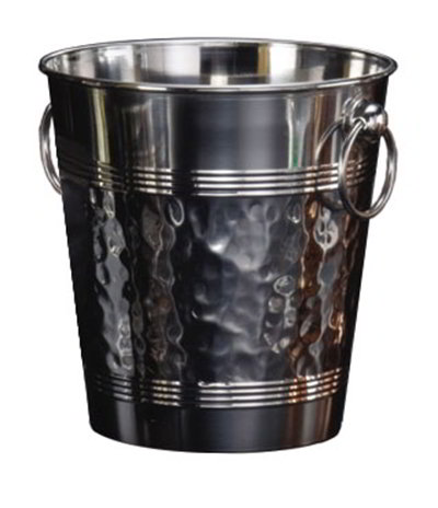 American Metalcraft WB9 8.37-in Wine Bucket, Hammered Finish, Stainless