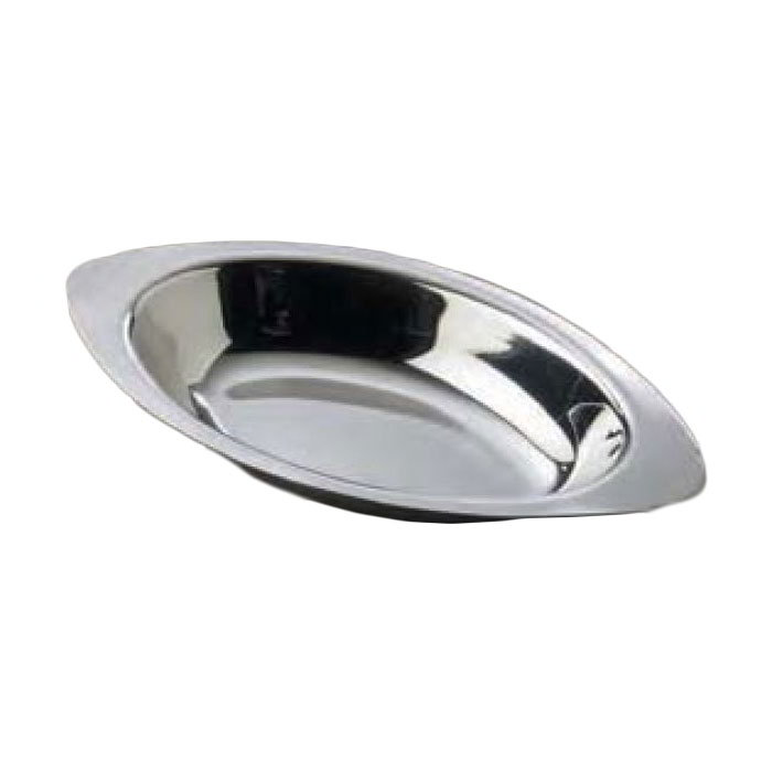 American Metalcraft AO120 Oval Au Gratin Dish w/ 12-oz Capacity, Stainless