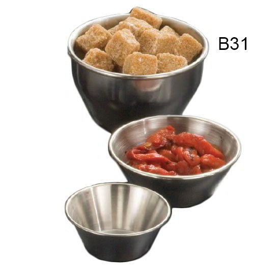 American Metalcraft B31 3.5-in Sauce Dish w/ 8-oz Capacity, Stainless