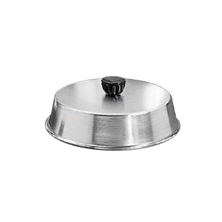 "American Metalcraft BA1040S 10.25"" Basting Cover w/ Bakelite Knob, Black, Stainless"