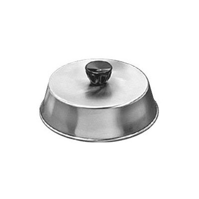 "American Metalcraft BA740S 7.5"" Basting Cover w/ Bakelite Knob, Black, Stainless"