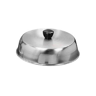 "American Metalcraft BA840S 8.37"" Basting Cover w/ Bakelite Knob, Black, Stainless"