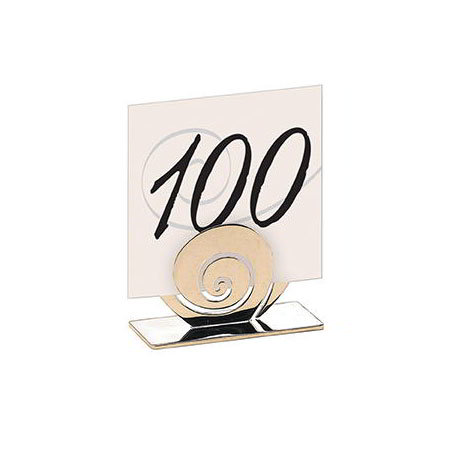 "American Metalcraft BCH31 2.5"" Tabletop Menu Card Holder - Chrome-Plated"