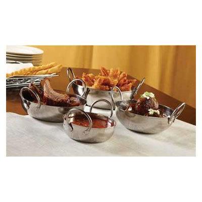 American Metalcraft BD35 10-oz Round Balti Dish, Stainless