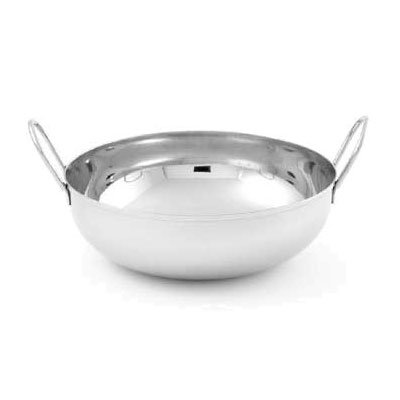 "American Metalcraft BD87 8"" Round Balti Dish w/ 62-oz Capacity, Doubled Handle, Mirror Finish, Stainless"
