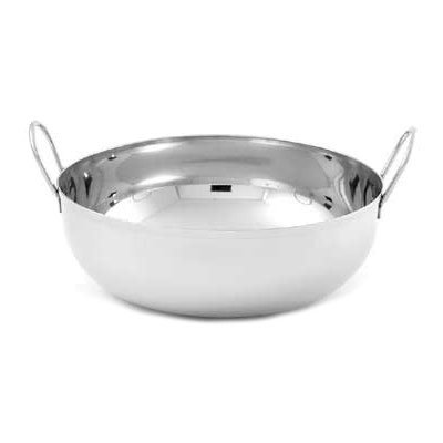 "American Metalcraft BD93 9"" Round Balti Dish w/ 105-oz Capacity, Double Handled, Mirrored, Stainless"