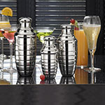 American Metalcraft BHS109 3-Piece Cocktail Shaker Set w/ 8-oz Capacity, Mirror/Stainless