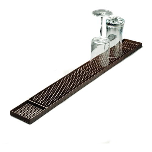 American Metalcraft BM23 Bar Mat, 3.25x27-in, Rubber/Dark Brown