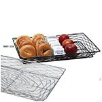 "American Metalcraft BNBB13202 20"" Rectangular Wire Basket, Black"