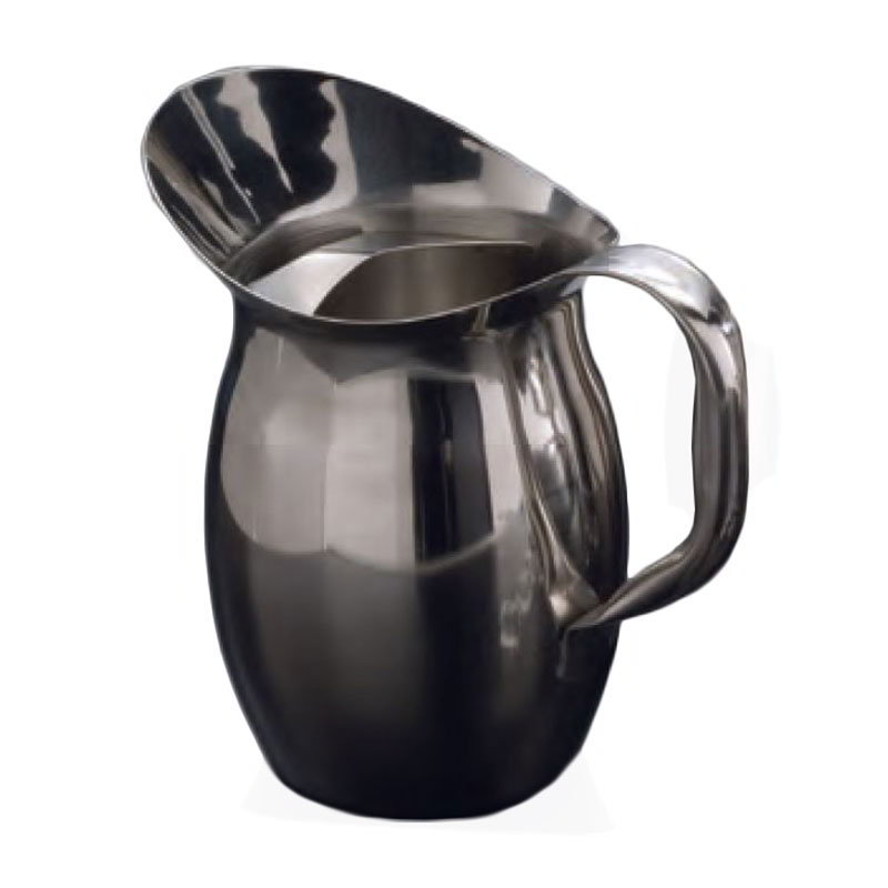 American Metalcraft BPG67 Bell Pitcher 68 oz. Stainless Steel With Ice Guard Restaurant Supply