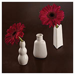 """American Metalcraft BVB3 3-1/2"""" Mini Bubble Bud Vase - White Ceramic"""