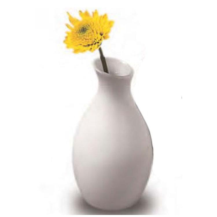 American Metalcraft BVJGG4 Ceramic Bud Vase, White