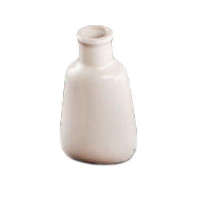 "American Metalcraft BVR3 3.75"" Mini Round Bud Vase, White Ceramic"