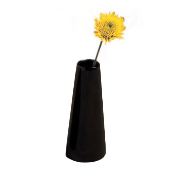"American Metalcraft BVTB7 4"" Bud Vase Tower, Black/Ceramic"