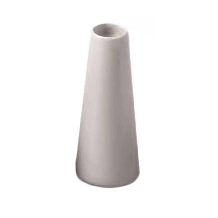 "American Metalcraft BVTG6 4"" Ceramic Bud Vase Tower, White"