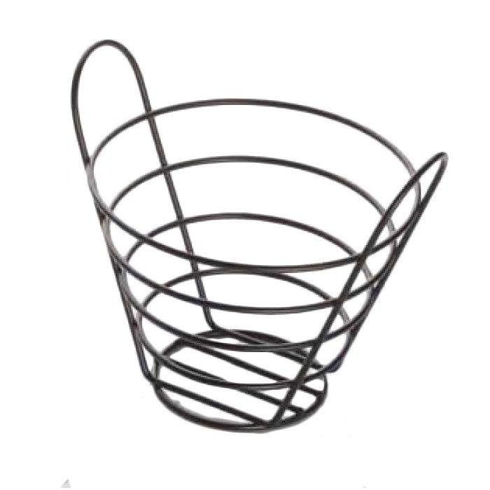 """American Metalcraft BWB750 Round Wire Basket, 7x5"""", Black"""