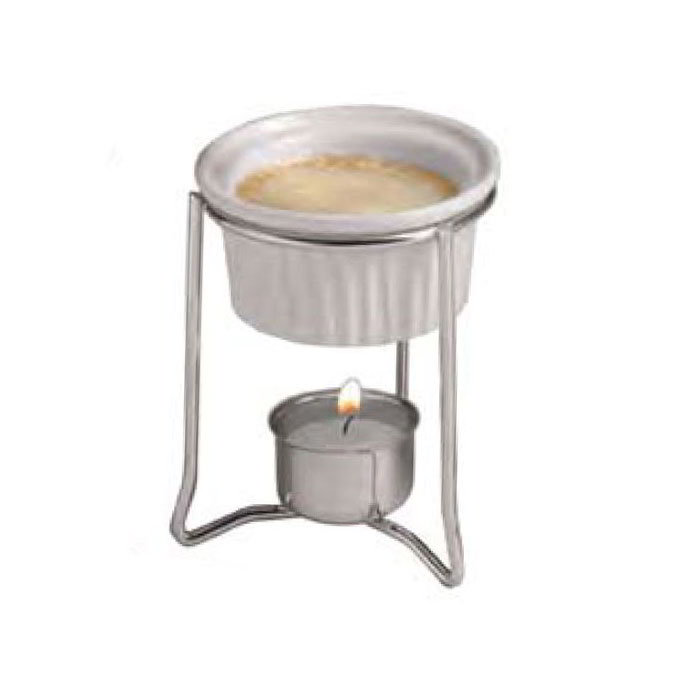 American Metalcraft BWR34 Butter Warmer w/ 2-oz Ramekin, Ceramic/Chrome