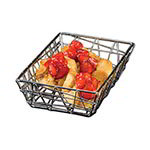 "American Metalcraft BZZ59C 6"" Rectangular Zorro Basket, Chrome"