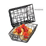 "American Metalcraft BZZ95B 6"" Rectangular Zorro Basket, Black"