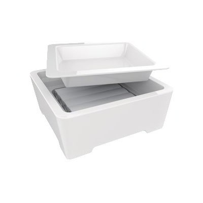 American Metalcraft C305S Buffetware Set w/ Plate, Tray & Cold Cell, 12x5""