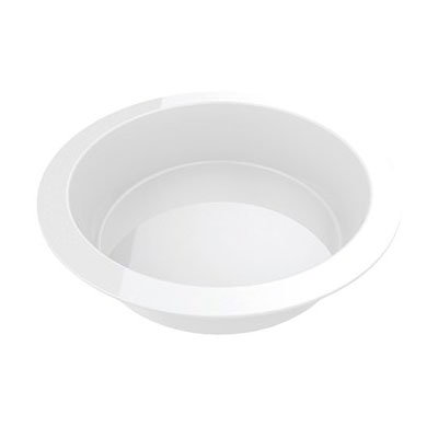"American Metalcraft C368RP 14"" Round Bowl for C368R, Porcelain"