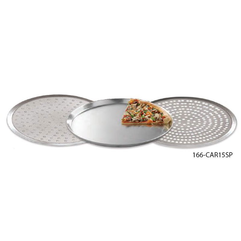 "American Metalcraft CAR15SP 15"" Round Perforated Pizza Pan, Aluminum"