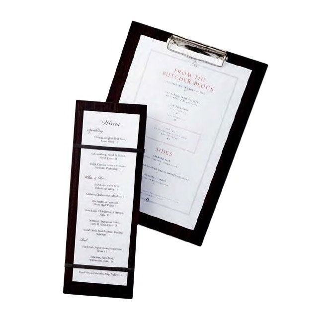 "American Metalcraft CB12 Clipboard Menu Holder - 9x12-1/2"" Espresso"