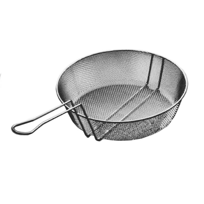 American Metalcraft CBF8 8-in Culinary Basket w/ Handle, Fine Mesh, Steel